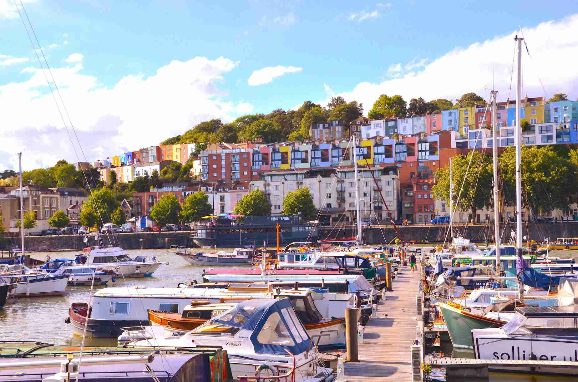 Bristol,Popular,Marina,With,Clifton,A,Wealthy,Suburb,In,The